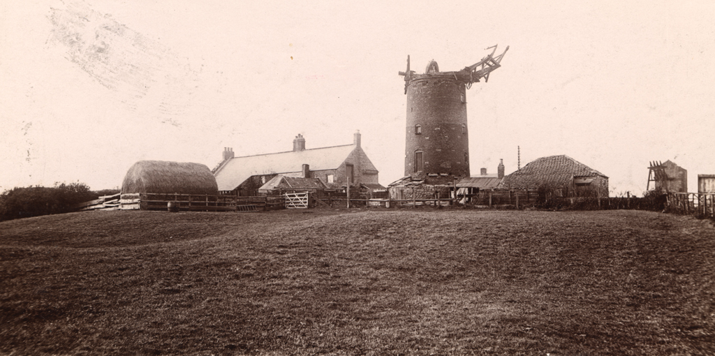 Windmill and cottages at Cowgate, Newcastle upon Tyne