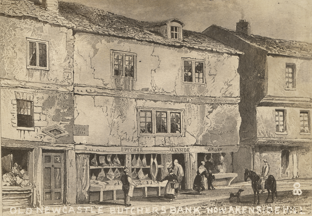 Old Newcastle Butchers Bank now Akenside Hill