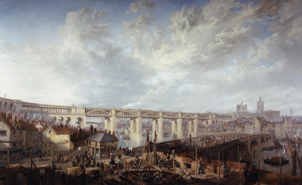 Tyne Bridge and High Level Bridge Newcastle upon Tyne