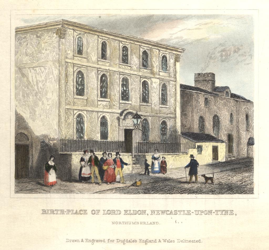 Birth-place of Lord Eldon, Love Lane, Newcastle upon Tyne