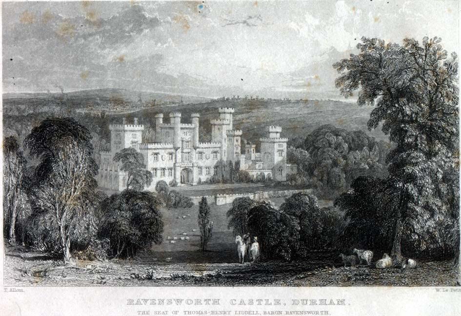 Engraving of Ravensworth Castle