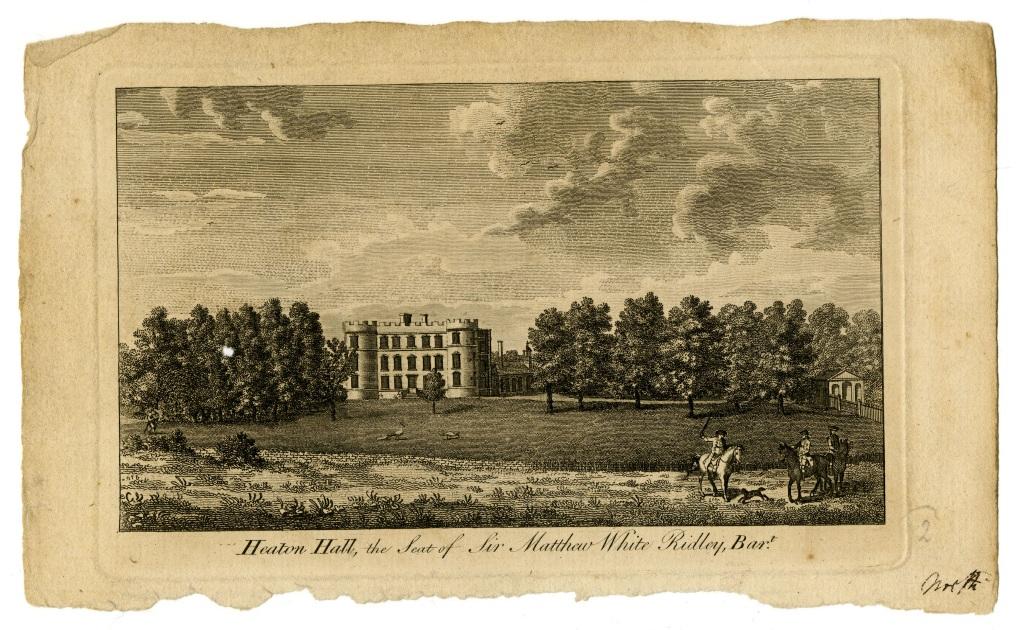 Heaton Hall, the Seat of Sir Matthew White Ridley, Bar.
