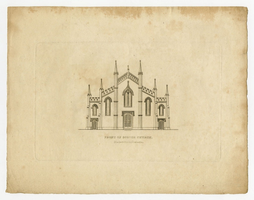 Front of Scotch Church, Blackett Street, Newcastle